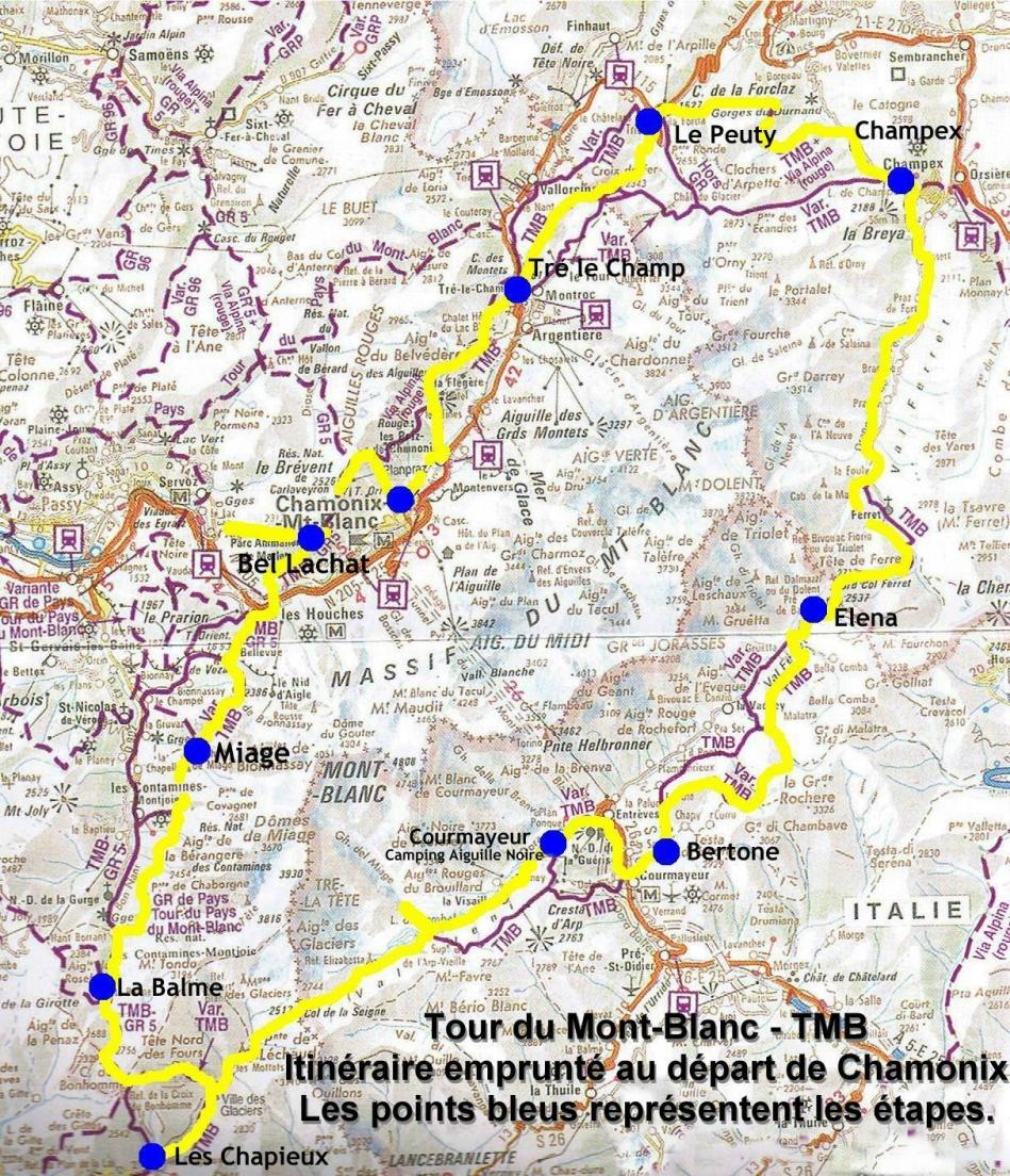 randonn 233 e trek et photos sur le tmb tour du mont blanc